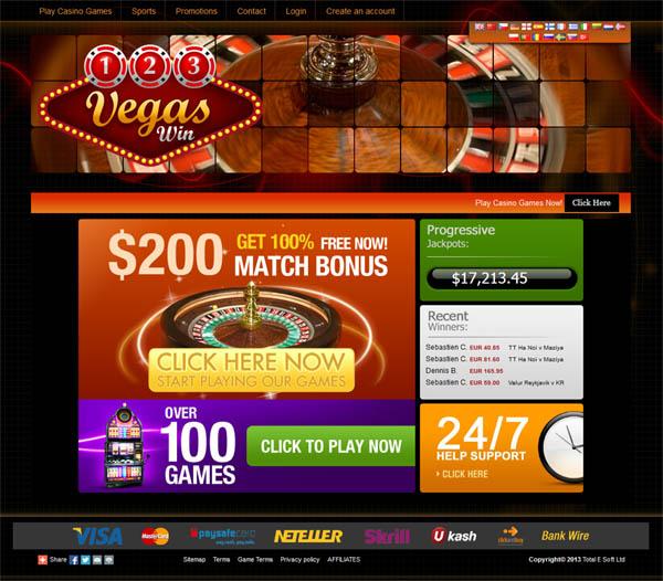 123 Vegas Win Deal