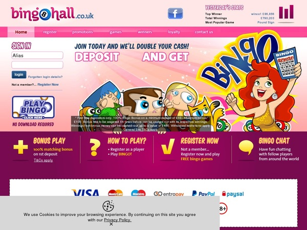 Become Bingohall Vip