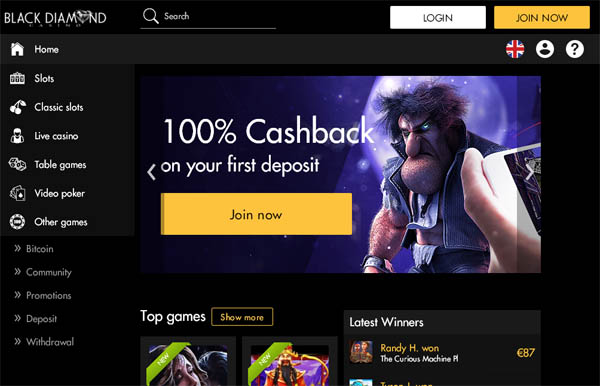 Black Diamond Casino Setup Account