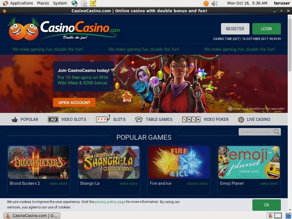 Casinocasino Signup Bonus