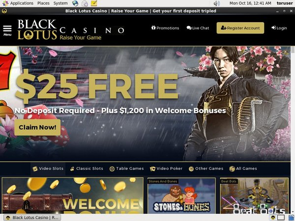 Get My Black Lotus Casino Bonus?