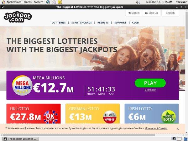 Jackpot.com Join Page