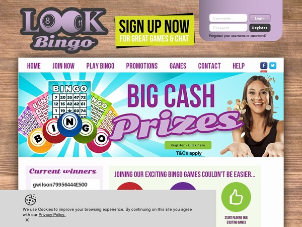 Lookbingo Mobile Free Spins