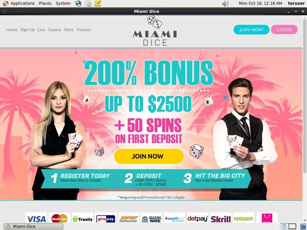 Miamidice Mobil Casino Bonus