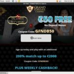No Deposit Bonus Grandfortune