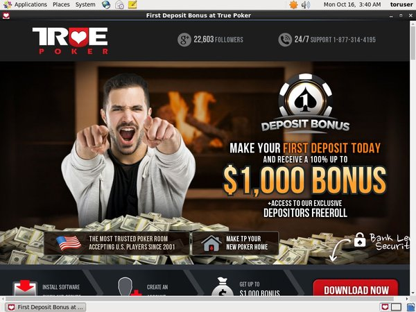 True Poker Live Chat