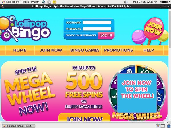 Welcome Offer Lollipopbingo