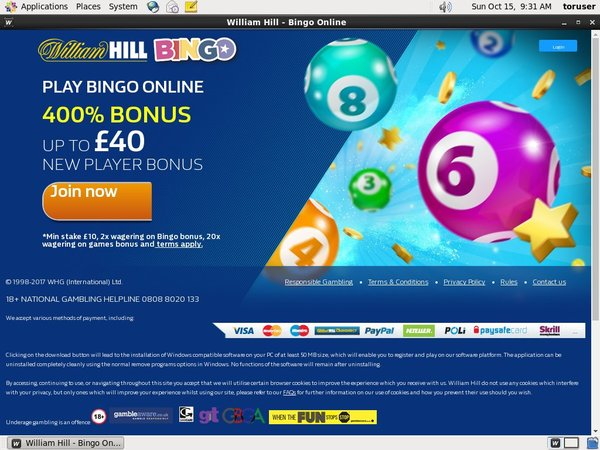 William Hill Bingo Loyalty Program