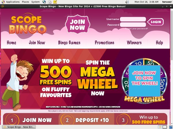 Scope Bingo Deal