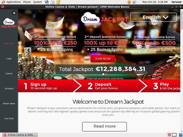 Dreamjackpot Deposit Phone Bill