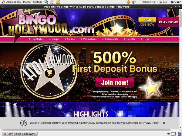 Bingo Hollywood Pay Pal Deposit