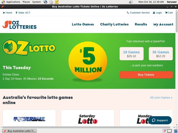 Ozlotteries Real Money