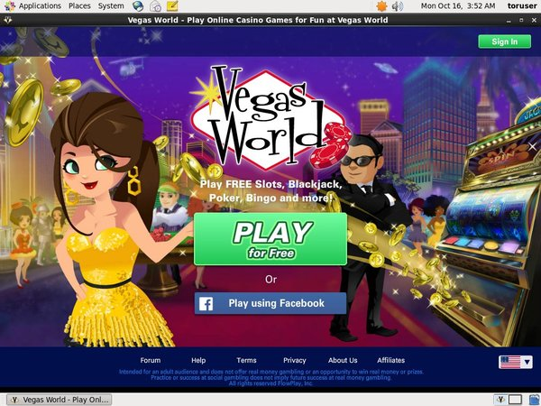 Vegasworld Casino Login