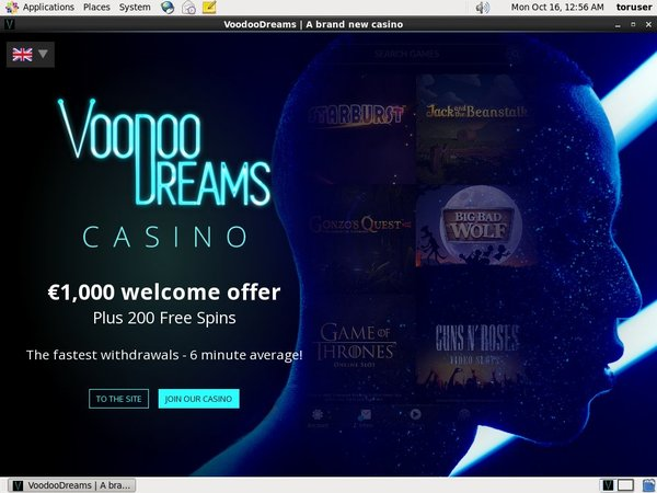 Voodoo Dreams New Customer Offer