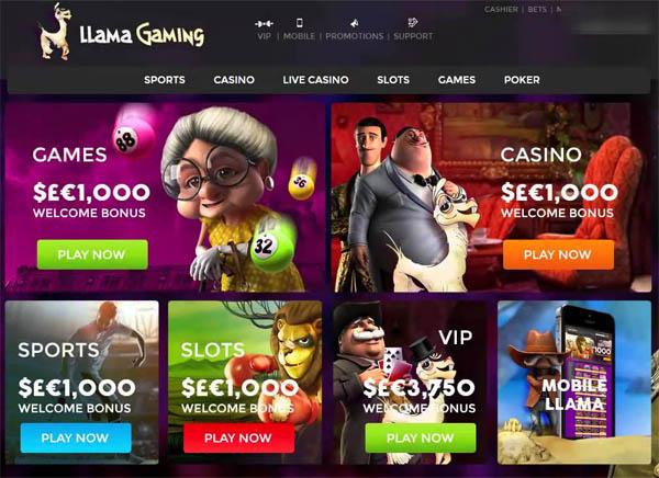 Llamagaming Online Casinos