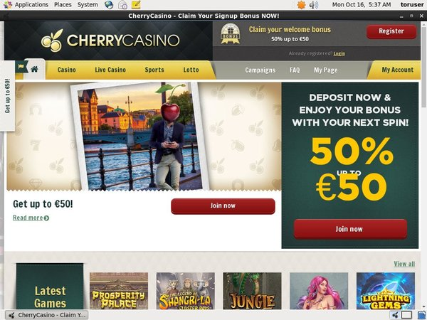 Cherry Casino Access
