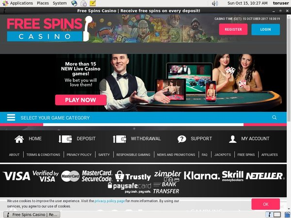 Free Spins Casino Registration Promo Code