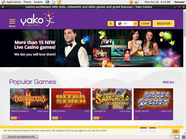 Yakocasino Online Casino Games