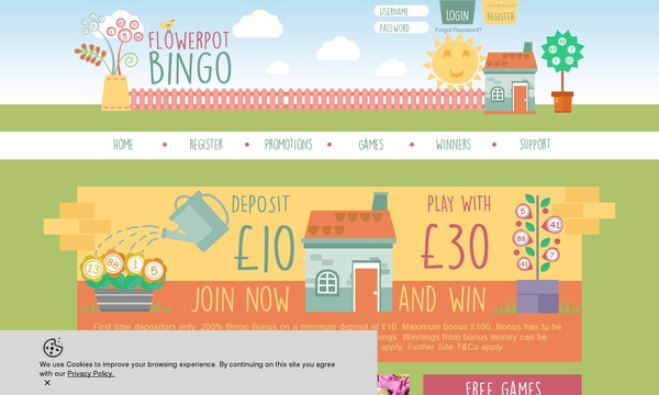 Flower Pot Bingo Discount Offer