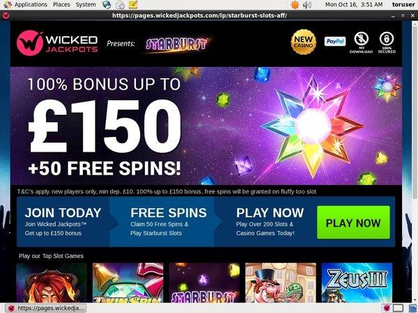 Wickedjackpots Online Casino Bonus
