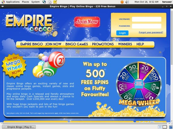 Empire Bingo Using Paypal