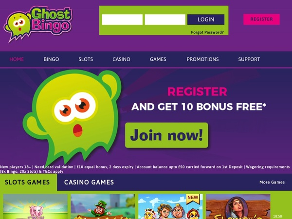 Ghost Bingo Free Games