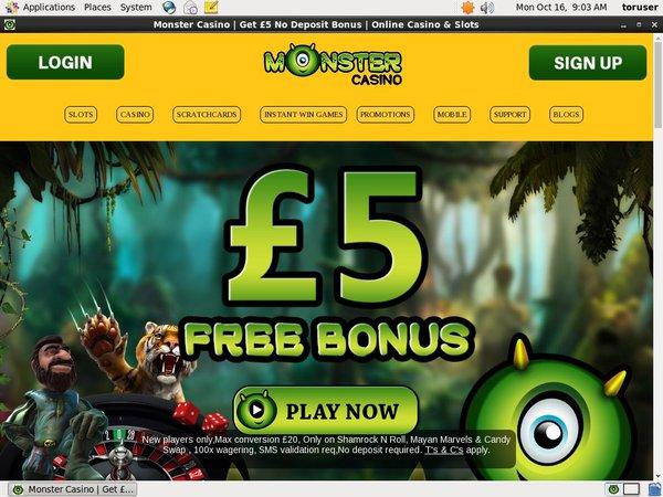 Monstercasino Free Spins Bonus