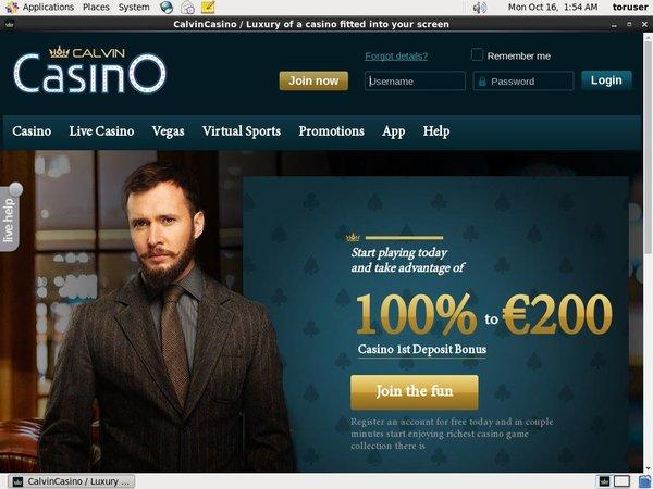 Calvin Casino Signup Bonus