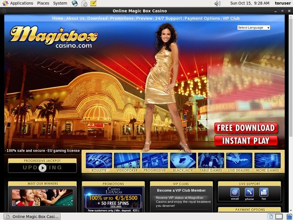 Magic Box Casino With Bitcoin