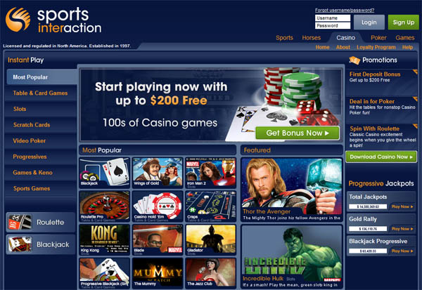 Sports Interaction Prepaid Card