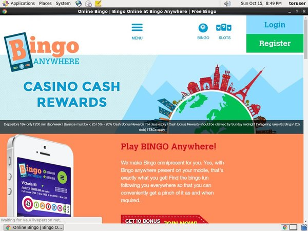Bingo Anywhere Free Spins