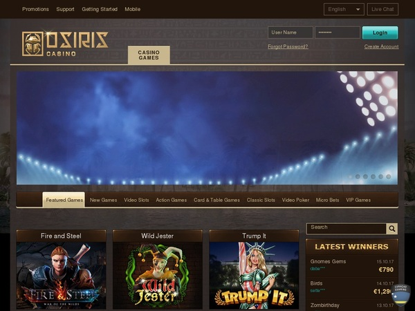 Osiriscasino Slot Machines