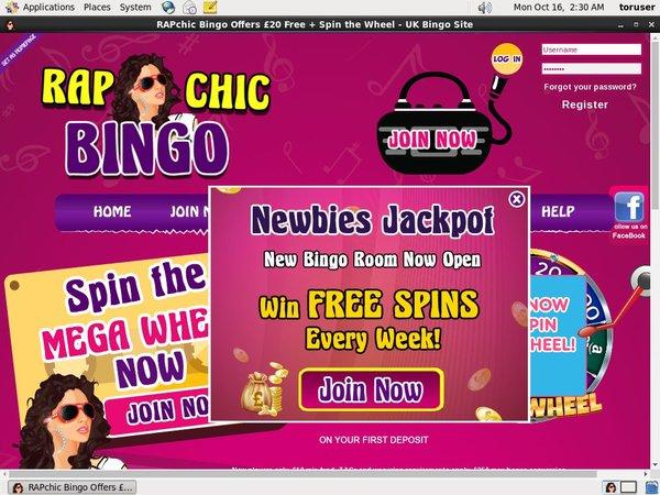 Rap Chic Bingo Bonus Code 2016