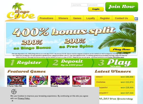 Bingo Cove Membership