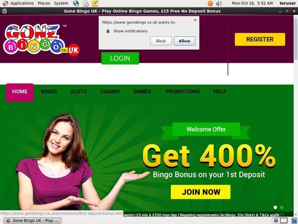 Gone Bingo Offers Uk