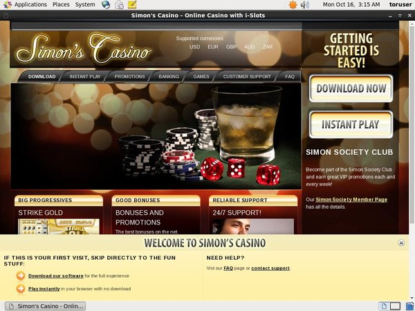 Simon Says Casino Deposit Match