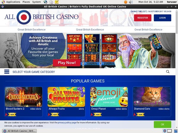 All British Casino Promo Code 2017