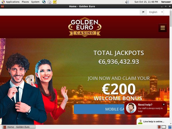 Golden Euro Casino Registration Page