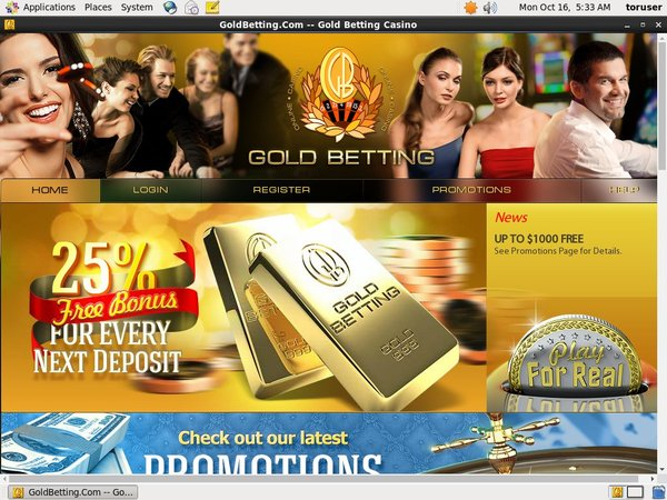 Gold Betting Progressive Jackpots