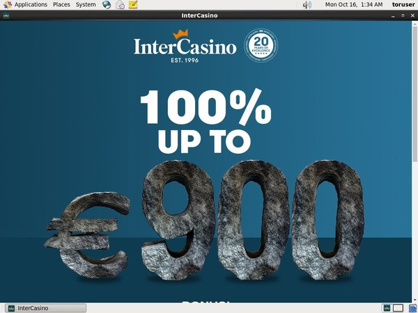 Intercasino Freebet