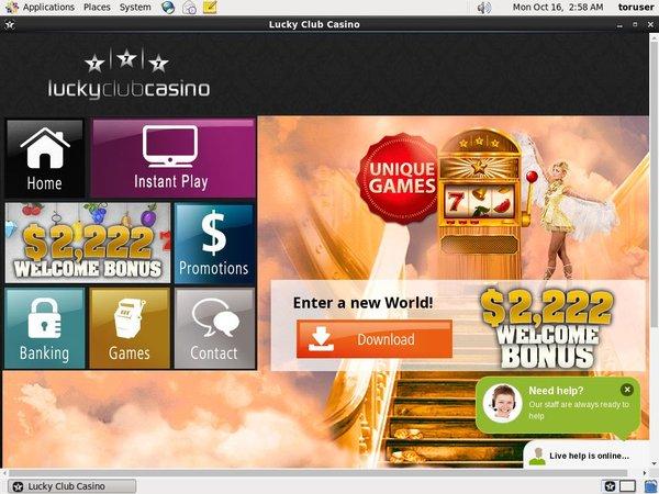Luckyclub No Credit Card