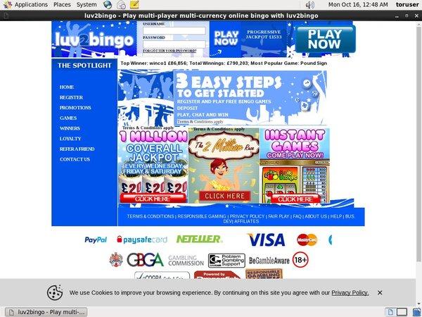 Luv 2 Bingo Öppna Ett Konto
