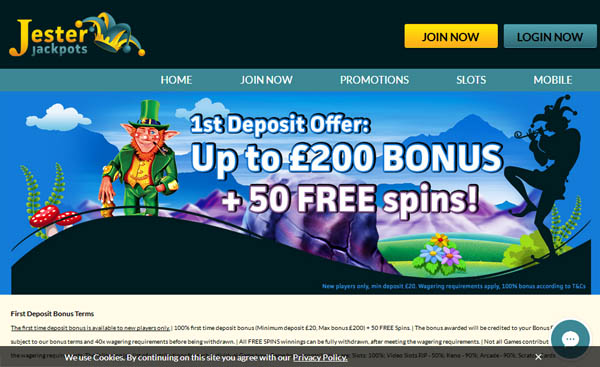 Sign Up Jester Jackpots