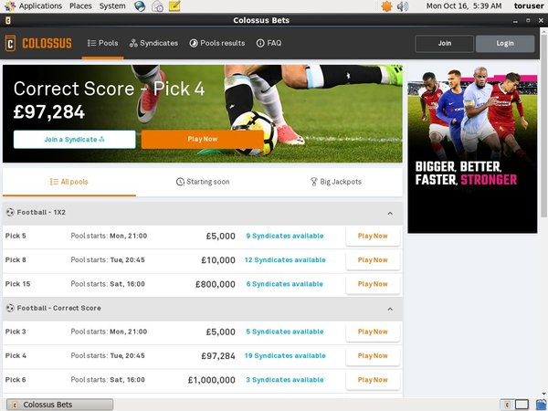 Colossusbets Open Account