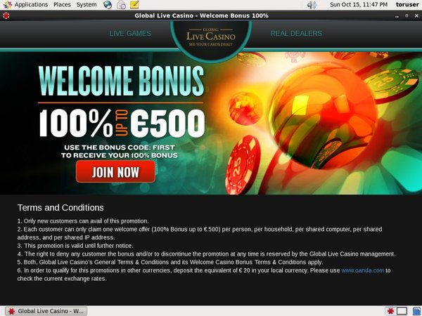 Review Global Live Casino