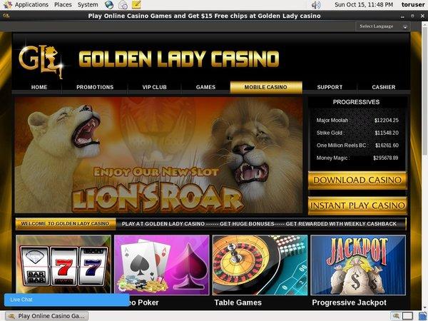 Golden Lady Casino Virtual Sports