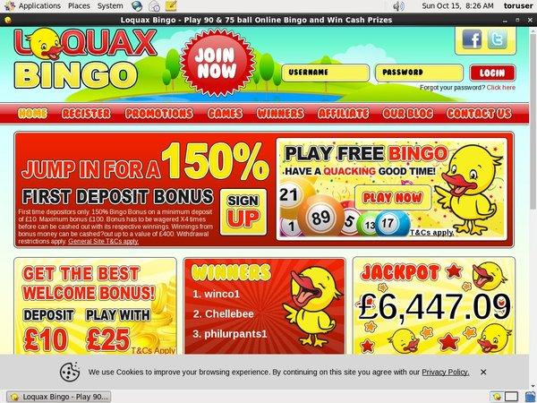 Mobile Deposit Loquax Bingo