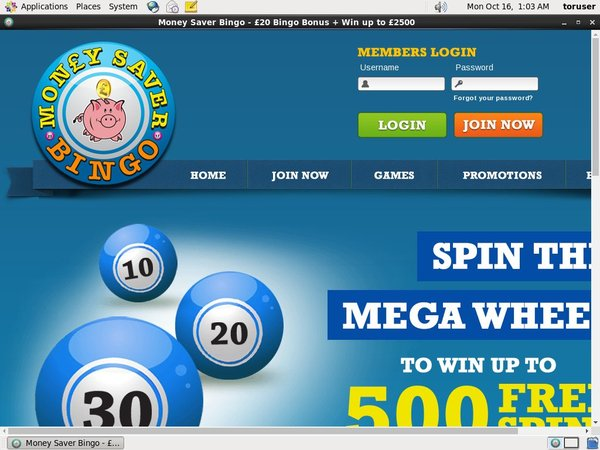 Money Saver Bingo Web Money