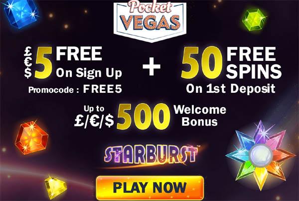 Pocket Vegas Today Games