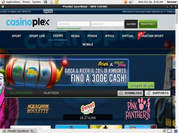 Casion Plex .it Free Coupon